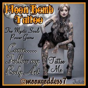🌛🌚🌜 Moon Bomb Tattoo 🌛🌚🌜